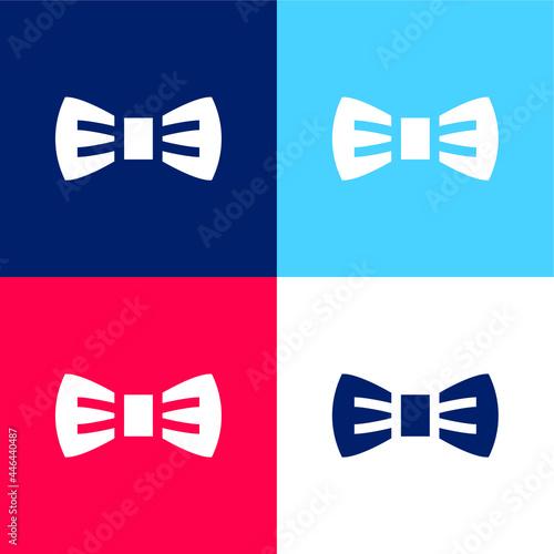 Murais de parede Bow Tie blue and red four color minimal icon set