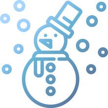 Snowman Gradient Icon