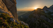 Beautiful Sunrise In The Julian Alps Mountains