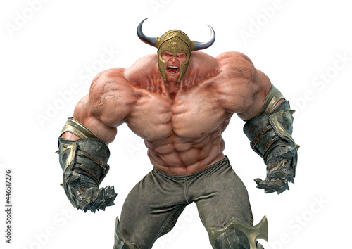 Canvas Print barbarian man is angry