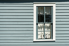 Old Painted Gray And White Window