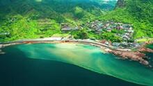 Aerial View Of Jinguashi And Yinyang Sea In North Coast ,Taiwan.