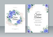 Beautiful watercolor flower for wedding invitation template