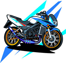Illustration Of An Motorcycle
