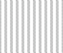 Zig Zag Lines Pattern. Black Wavy Line On White Background. Abstract Wave, Vector Illustration