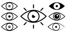 Set Of Eye Line Icons. Eyesight Symbol. Vector Isolated On White Background