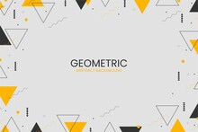 Flat Abstract Geometric Background With Abstract Shapes_4
