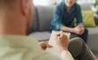 Leinwandbild Motiv Professional therapist meeting a patient in his office