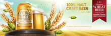 Wheat Beer With Natural Ingredients Oak Barrel