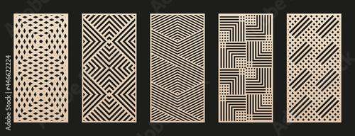 Foto Laser cut patterns collection