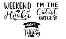 Fishing SVG T-shirt Design Bundle