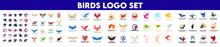 Biggest Collection Of Vector Logos Birds. Birds Logo Set.
