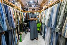 Man In His Clothes Shop, Ezekiel's Tomb, Al Kifl, Kerbala, Iraq