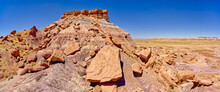 The Northeast Side Of Keyhole Mesa In The First Forest Of Petrified Forest National Park, Arizona
