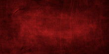 Texture Of Dark Red Decorative Plaster Or Concrete. Abstract Grunge Background.