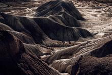 Scenic View Of Bare And Arid Mountain Ri
