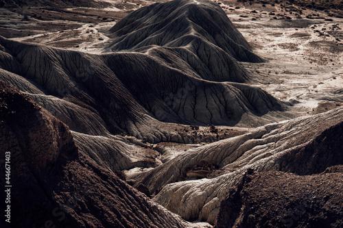 Tablou Canvas Scenic view of bare and arid mountain ri