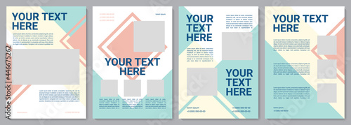 Fotografie, Obraz Customer service brochure template