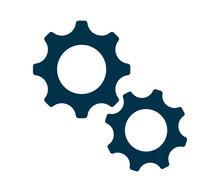 Settings, Gear Icon, Logo Isolated On White Background