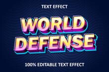 Vintage Style Editable Text Effect World Defense