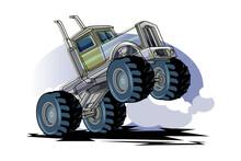 Monster Truck Jumping Vector