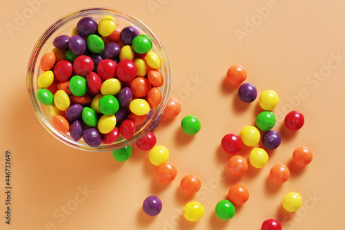 Photo Colorful skittles candies