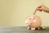 Concept of finance and economy with piggy bank
