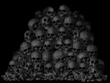 Pile Of Human Skull And Bone