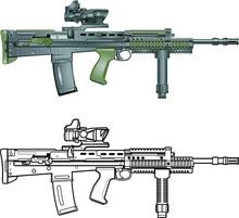 British Sa80 Automatic Assault Rifle
