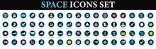 Space Icons. Space Icons Set.