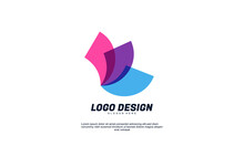 Stock Creative Logo For Company Or Bulding Bussiness Brand Identity Transparent Color Flat Design