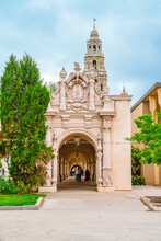 Spanish Arches With Beautiful Architecture In Balboa Park In San Diego