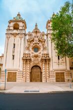 Casa Del Prada Theater With Beautiful Architecture In Balboa Park. San Diego, USA - 22 Apr 2021