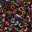 donut background seamless