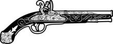Antique Blak Powder Pistol