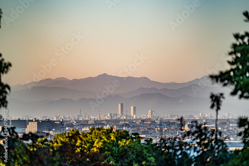小牧山山頂から見た大垣市方面 Fototapete