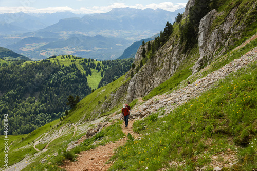 hiking landscape in the vercors moutains of france