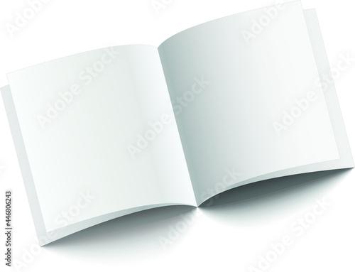Fotografie, Obraz illustration book thick white background