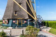 Inhabited Polder Mill Located On The River Het Gein.