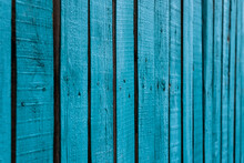 Blue Wood Fence Background Wallpaper Texture