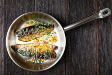 Fried Mackerel Fillets With Spices And Herbs