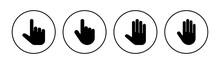 Hand Icon Set. Hand Vector Icon, Palm,click