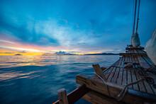 Bow Of Wooden Sailboat In Raja Ampat