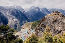 Village Of Namche Bazaar, Nepal The Gateway To Mount Everest
