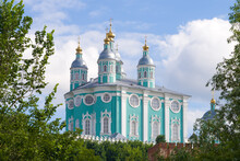 View Of The Assumption Cathedral On A Sunny July Day. Smolensk, Russia