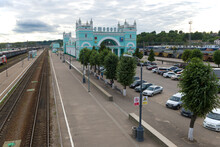 View Of The Railway Station Of The City Of Smolensk On A Cloudy July Evening