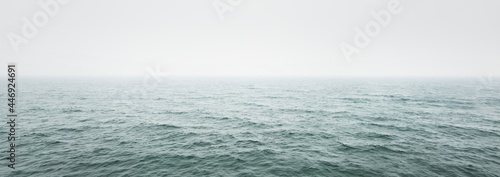 Fotografie, Obraz Panoramic view of Baltic sea from sandy shore