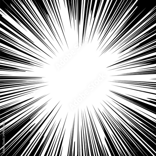 Obraz na plátně White Explode Flash, Cartoon Explosion, Star Burst