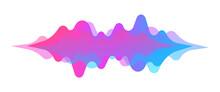 Abstract Sound Wave. Modern Digital Equalizer. Radio Wave. Volume Level Symbols. Music Frequency. Sound Vibration Spectrum For Music App. Vector Illustration.