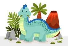 Cartoon Cute Baby Dinosaur